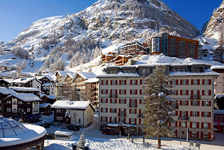 7 Nights at Monte Rosa Hotel covered in a blanket of snow, Zermatt – Switzerland